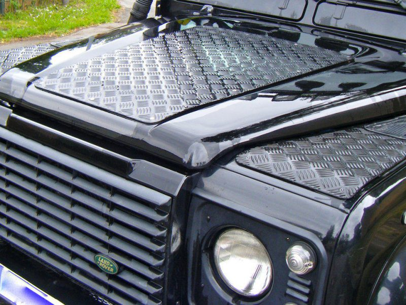90 CHEQUER PLATE 3MM BLACK