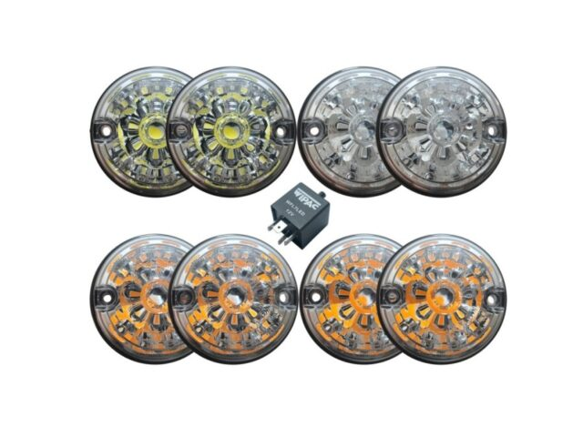 LED Light Kit With Clear Lenses 73MM
