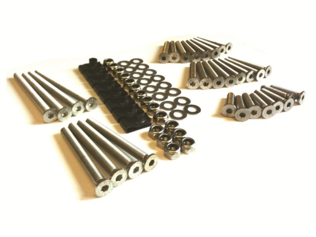Stainless steel screw and bolt kits