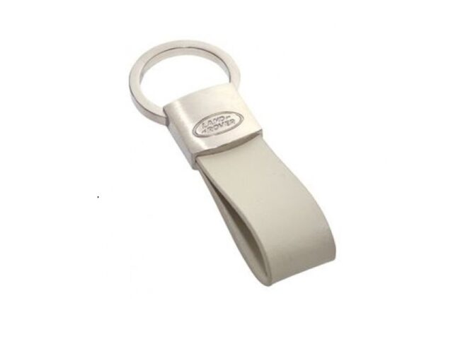LAND ROVER LEATHER LOOP KEYRING - ivory