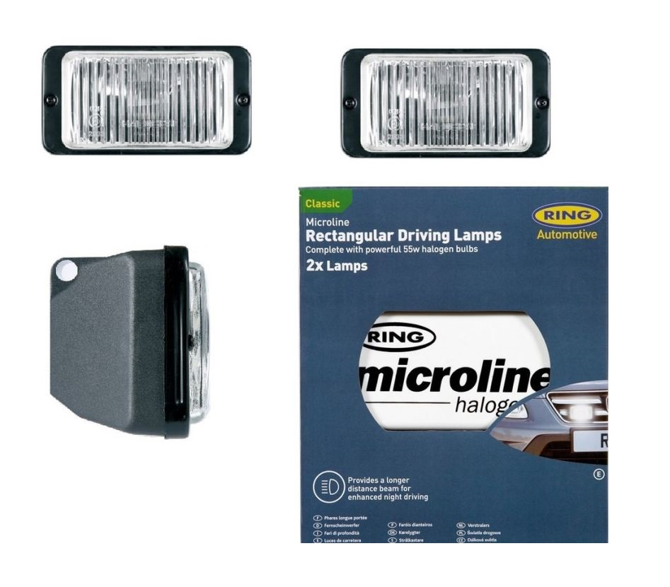 Microline Rectangular Fog / DRIVING LAMPS INCLUDING White Covers