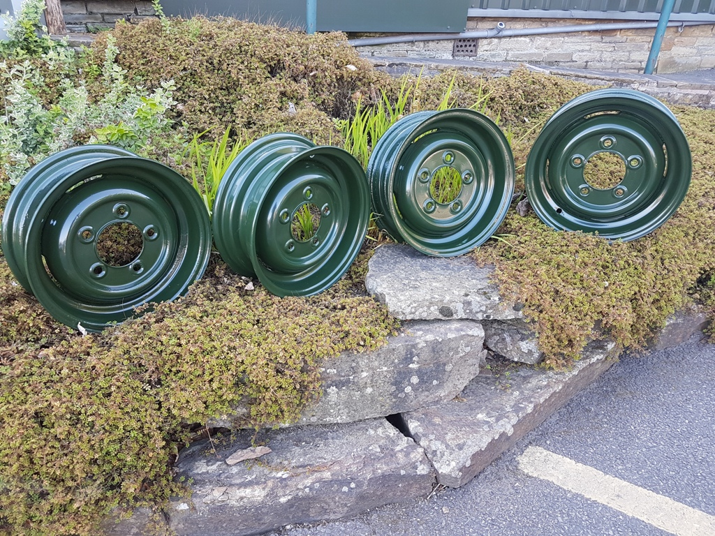 Steel Rim Original Series - Refurbished set of 4 Bronze green