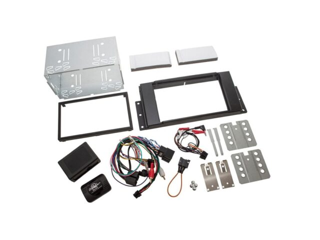 DOUBLE DIN RADIO INSTALL FASCIA - Freelander 2 - fibre optic amplified vehicles only