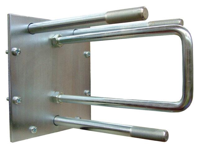 Fixed rear door mount spare wheel carrier