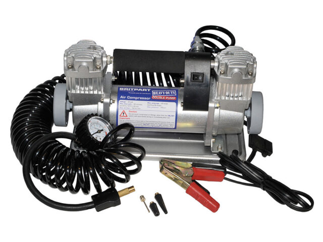Portable air compressor (DOUBLE PUMP)
