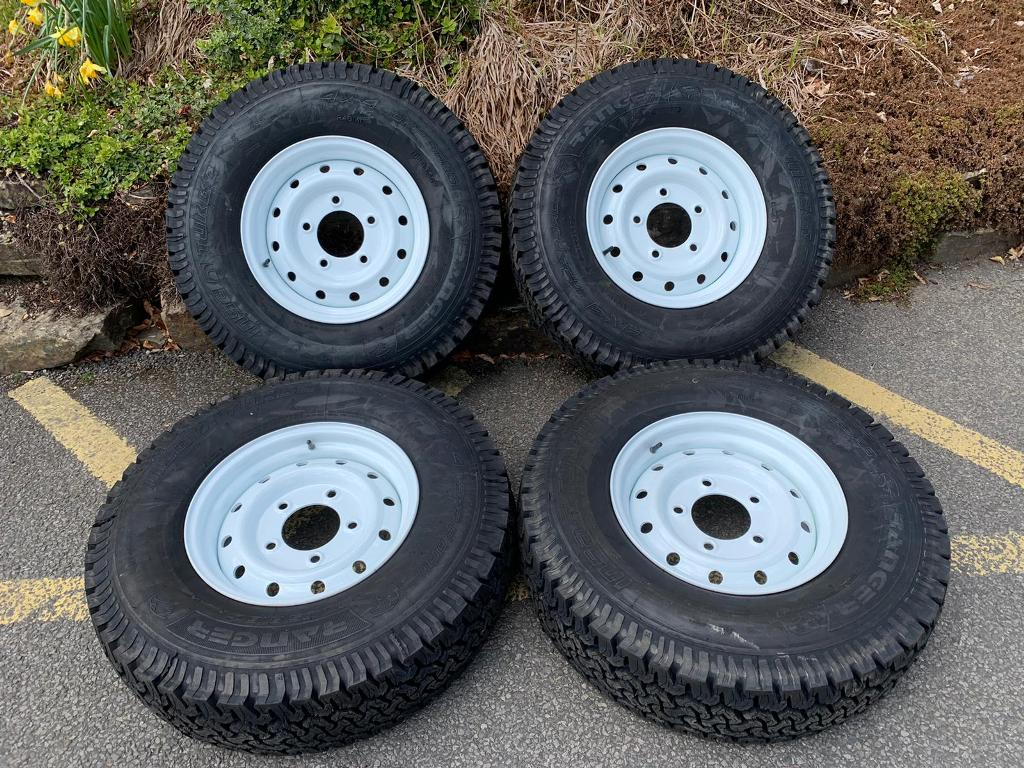 WHITE WOLF RIMS WITH INSATURBO ALL TERRAIN TYRES - SET OF FOUR